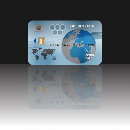 Graphic illustration of blue credit card Vector