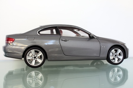 Miniature model of convertible sport car photo