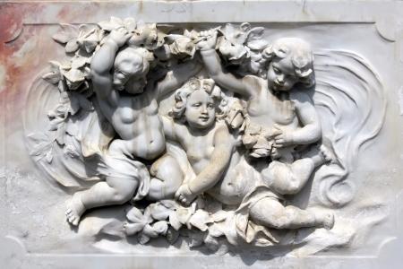Hermosos �ngeles, escultura de m�rmol Foto de archivo - 15258729