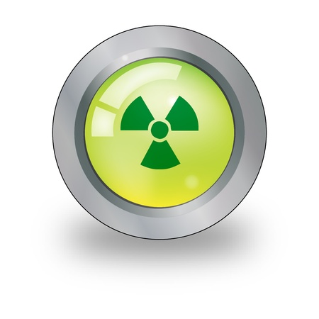 Graphic illustration of web icon with radiation sign over button Stock Vector - 15476141