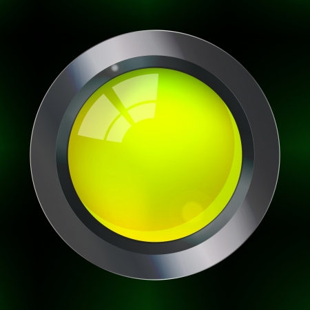 Graphic illustration of web button over dark background Vector