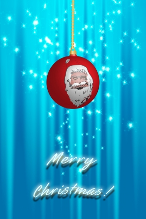 Christmas ball over abstract background photo