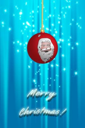 Christmas ball over abstract background Stock Photo - 15692212
