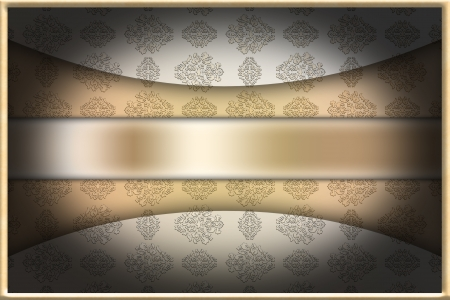 Graphic illustration of cover with frame Stock Illustration - 15964009