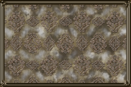 Vintage pattern ornated with metallic frame Stock Photo - 16067060