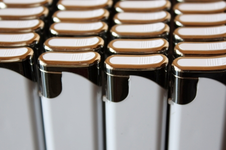 A pack of white lighters close up Stock Photo - 16067065