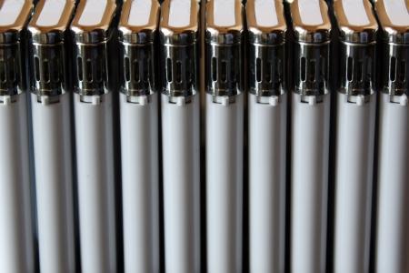 Macro shot of white gas lighters Stock Photo - 16067064
