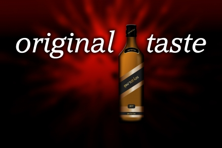 A bottle of alcoholic drink over dark explosive background Stock Photo - 16462689