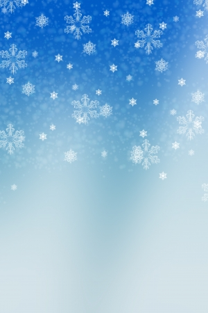 Winter background with snowflakes over blue Stock Photo - 16706646