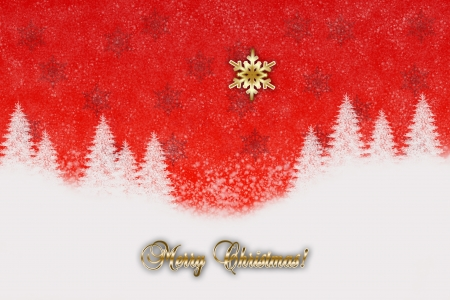 Christmas background with stars and snowy landscape Stock Photo - 16724493