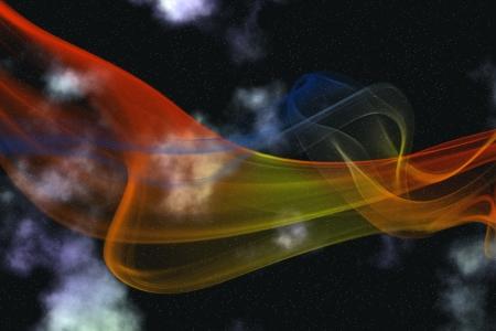 Interstellar scene with colored smoke over sky Stock Photo - 16932216