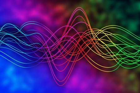 spectral: Abstract background with curved lines over spectral background Stock Photo