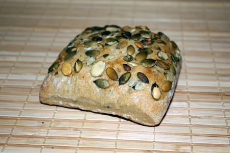 Bagel bread with pumpkin seeds Stock Photo - 17083592
