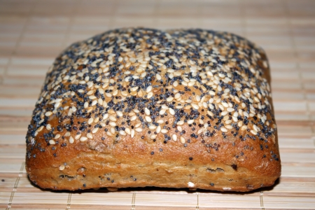 Tasty bagel bread with seeds on top Stock Photo - 17083611
