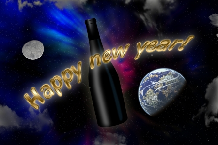 Invitation to an happy new year all over the world Stock Photo - 17083607