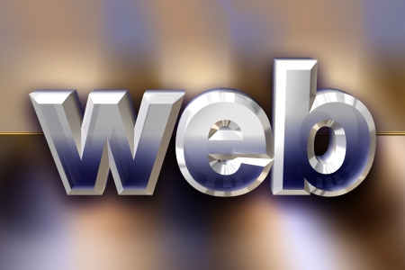 3d web letters over abstract background Stock Photo - 17170131