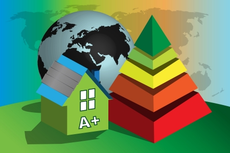 Conceptual illustration of energy consumption in the world Vector