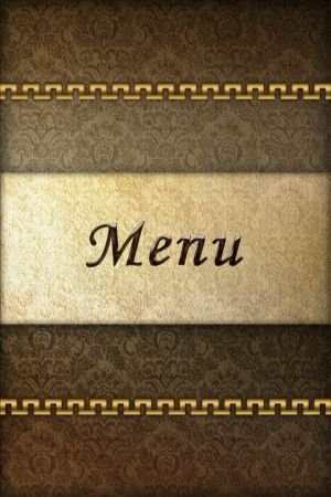 Graphic illustration of menu cover for restaurants Stock Illustration - 17247835