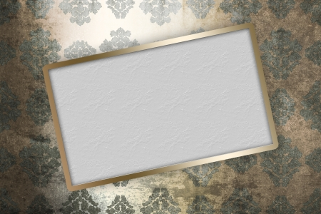 Golden frame over grunge baroque cover photo
