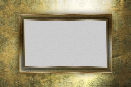 Golden frame over grunge background Stock Photo - 17442714