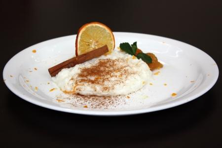 Closeup presentation of rissoto dessert  Stock Photo - 17580199