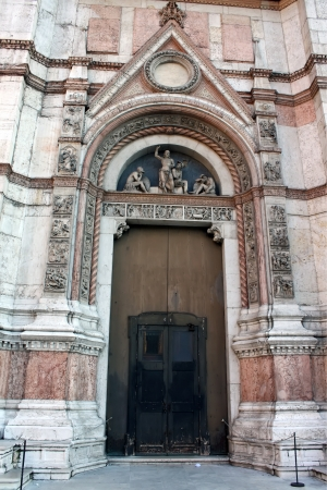 Door of San Petronio cathedral from Bologna, Italy Stock Photo - 17580236