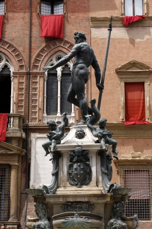 Fountain of Neptune in Bologna, Italy Stock Photo - 17580194
