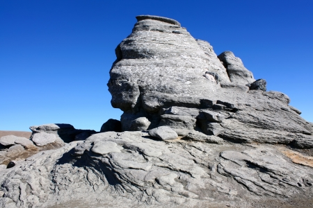 The Sphinx, natural rock formation in Bucegi mountains Stock Photo - 17580239