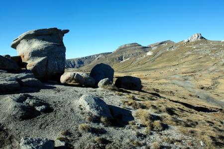 Rock formations on Bucegi plateau from Romania Stock Photo - 17580241