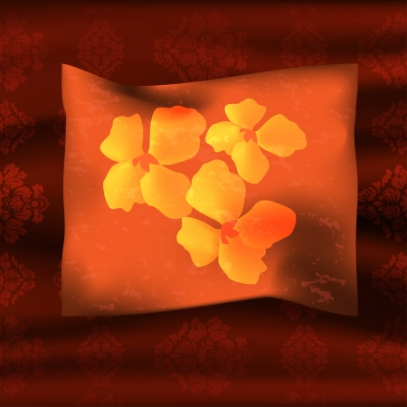 spongy: Graphic illustration of a pillow over coverlet Illustration