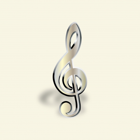Graphic illustration of musical note Vector