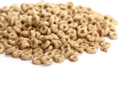 Cheerios cereal over white background