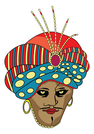 mouser: Graphic illustration of pasha portrait
