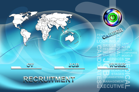 Conceptual background for job agencies photo