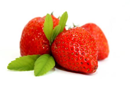 Strawberries fruits macro scene photo