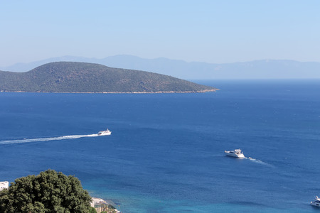 Boats on sea at Bodrum photo