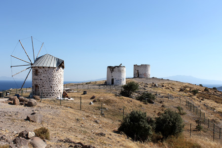 Windmills from Bodrum, Turkey photo