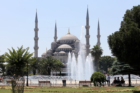 The blue mosque from Istanbul photo