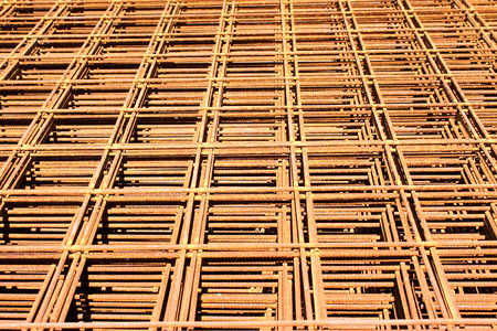 welded: Iron mesh for reinforced concrete