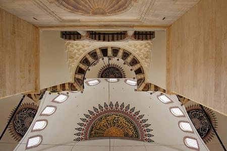 Istanbul, Turkey - 01 07 2014 - Cieling of Suleymaniye Mosque