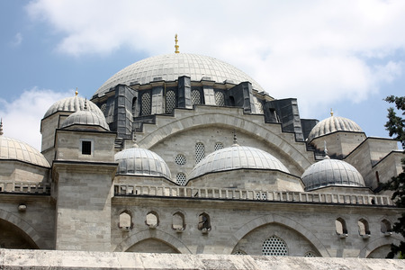 Istanbul, Turkey - 01 07 2014 - Suleymaniye Mosque