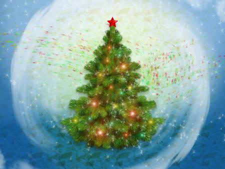 artificial lights: Christmas tree