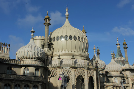 brighton: Minarets forming the roof of the Royal Pavilion in Brighton