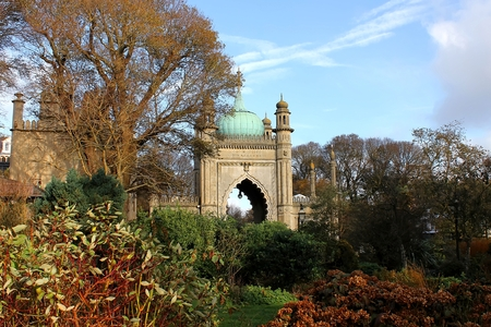 north gate: The north gate of Brighton Royal Pavilion from United Kingdom Editorial