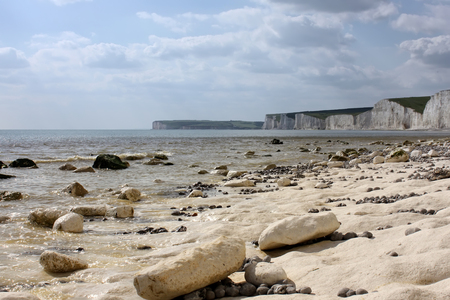 sussex: Scene from Birling Gap beach, East Sussex