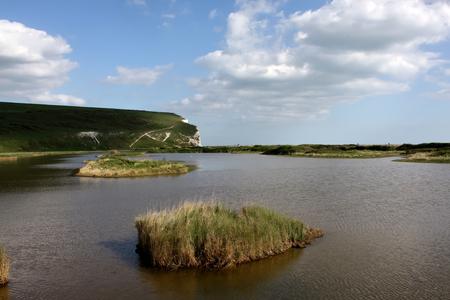 flooded: Flooded meadow near Cuckmere beach