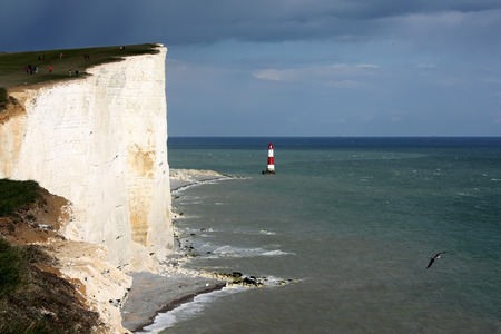 Lighthouse in the sea, East Sussex