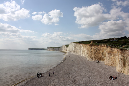 Beautiful scene from Birling Gap, East Sussex Stock Photo
