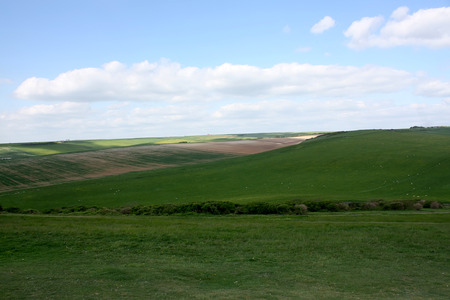 Green field near Eastbourne, East Sussex Stock Photo