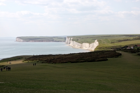Seven sisters plateau in East Sussex